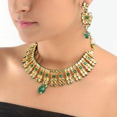 India Tend :: Hanifa Mughal Necklace Earrings Set