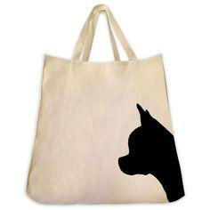 Chihuahua Cotton Twill Tote Bag - Silhouette Design