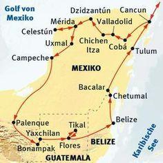 Süd-Mexiko: Yucatán - Guatemala - Belize