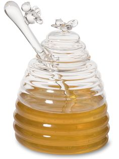 Honey Dispenser - Honey Pot - Honey Jar - Honey Pot with Dipper Honey Dispenser, Skinny Margarita, Honey Packaging, Bee Friendly, Bee Sting, Margarita Recipes, Milk And Honey, Dipper, Bees Knees
