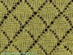 Dual Diamonds - Knittingfool Stitch Detail