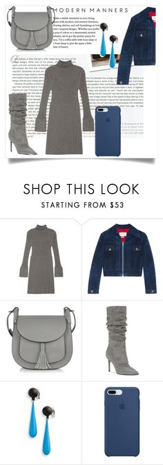 """""""Grey meet Blue"""" by muhammadtanim on Polyvore featuring Stop Staring!, Adrianna Papell, Gucci, Le Parmentier, Jessica Simpson, Toga and Apple"""