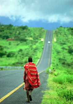massai on a journey. I miss traveling through Africa with Massai Andy...