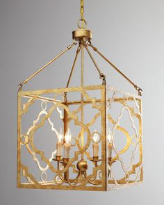 I have to find a place for this! I am thinking a small bathroom. Soleil Golden Pendant by Regina-Andrew Design at #Horchow.