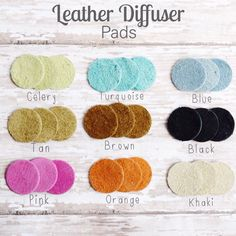 Leather Diffuser Pads for Essential Oil Diffuser Necklaces 3 Leather Pads Leather Pad Refill