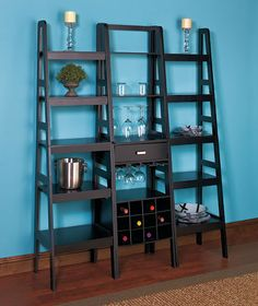 Ladder shelf storage