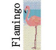 Peyote Bracelet Pattern Flamingo Bird on Beach by MigotoChou, $6.00