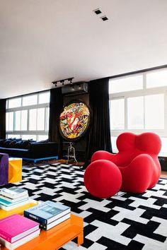 Retro Interior Design, Interior Styling, Interior Decorating Styles, Pop Art Decor, Decoration, Home Room Design, Dream Home Design, Casa Pop, Hypebeast Room
