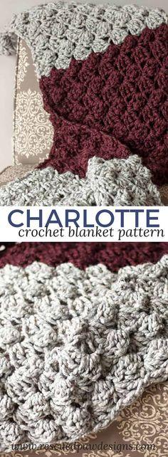 Charlotte Crochet Blanket ⋆ Rescued Paw Designs Crochet
