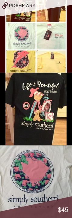 NWT Simply Southern XLarge-3 shirts New with tags, short sleeve size XLarge. Simply Southern Tops Tees - Short Sleeve