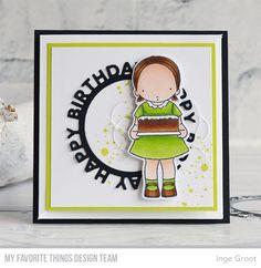 Happy Birthday to You Stamp Set and Die-namics, Happy Birthday Circle Frames Die-namics, Distressed Patterns Stamp Set - Inge Groot  #mftstamps
