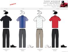 Tiger Woods Masters Apparel