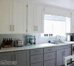 s 15 easiest ways to totally transform your kitchen cabinets, kitchen cabinets, kitchen design, Or use trim to cover up an old ugly shape