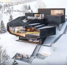 """Architecture Content on Instagram: """"#architecturecontent Check out this amazing house! If you know who the architect is leave a comment down below! . Follow @architecture.c…"""" Architectural Design House Plans, Modern House Design, Modern Interior Design, Interior Design Inspiration, Design Ideas, Luxury Interior, Design Architect, Architect House, Design Design"""