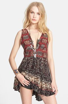 Free People Print Cotton Tunic available at #Nordstrom