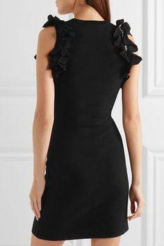 3.1 Phillip Lim - Zip-detailed Ruffled Stretch-cotton Mini Dress - Black - medium