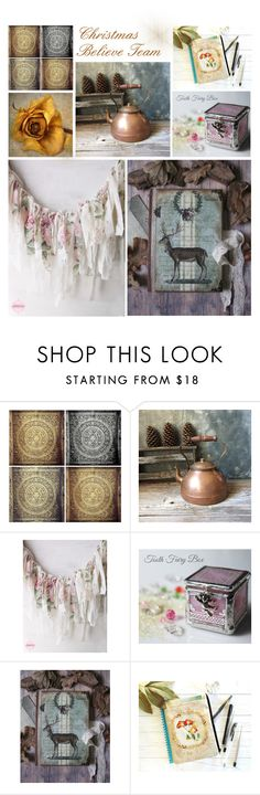 """""""Christmas"""" by rue-des-souvenirs ❤ liked on Polyvore featuring WALL, Christmas, polyvorefashion and believeteam"""