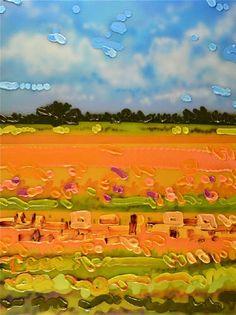 "Sheila Kernan WHERE'S HOME / Canada House Gallery - mixed media, high gloss, canvas 24"" x 18"""