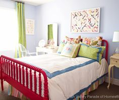love the bed colors for little girl room