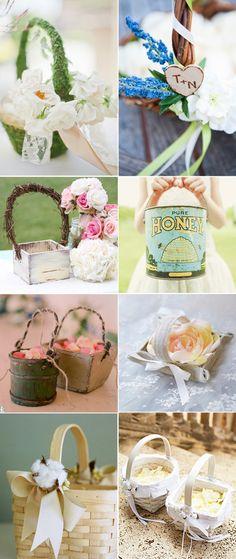 Decoración de cestas para bodas. Ideas para decorar las cestas en vuestra boda.