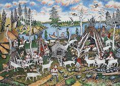 Llife in a hut village of Sompio - Andreas Alariesto (1900-89) - Elämää sompiolaisessa kotakylässä