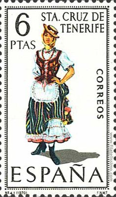 Collection of Spanish stamps: 1970 Sta. Traditional Fashion, Traditional Outfits, First Day Covers, Canary Islands, Mail Art, Stamp Collecting, Postage Stamps, Retro, My Stamp