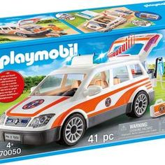 playmobil – ToyRoo - Magical World of Toys! Emergency Doctor, Emergency Call, Dr Car, Rear Seat, Sirens, City Life, Toys, Playmobil, Mermaids