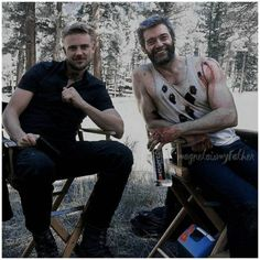 Boyd Holbrook and Hugh Jackman