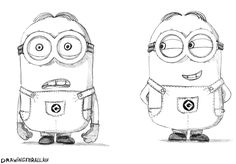 Gabii coloring pages ~ how to draw bob from minions step 7 | Drawings | Drawings ...