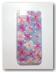 Handmade iPhone 5/5s case, Resin with Flowers , Mix color Hydrangea (101)