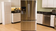 This Samsung fridge is packed with features -- so how does it stack up? Samsung Fridge, Smart Kitchen, French Door Refrigerator, French Doors, Kitchen Appliances, Layout, Tech, Storage, Board