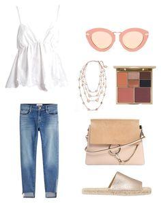 """Casual outfit"" by kelda-mbyeti on Polyvore featuring moda, See by Chloé, Frame, Mint Velvet, Chloé, Karen Walker, Karine Sultan e Stila"