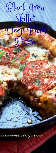 Black Iron Skillet Deep Dish Pizza_ menumusings.com