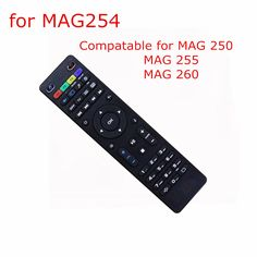ANEWKODI Black Color Replacement Remote Control For Mag254 FOR MAG 250  255 260 270 linux system iptv set top box dvb-t2 tv