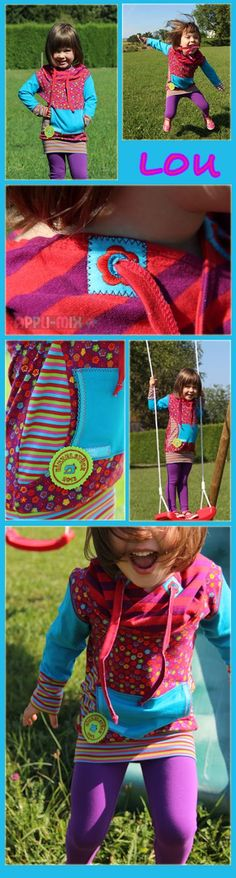 LOU by appli-mix Sewing Projects, Kids Fashion, Learning, Belgium, Colorful, Girls, Outfits, App, Pranks