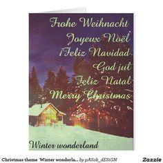 #Christmas #theme  #Winter #wonderland... http://www.zazzle.com/christmas_theme_winter_wonderland_card-137994788043078971?CMPN=shareicon&lang=en&social=true&rf=238824012663565992