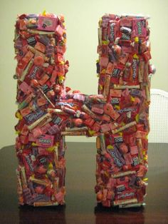 3-D Candy Display used for Party Decoration / Centerpiece/ Table Numbers. $65.00, via Etsy.