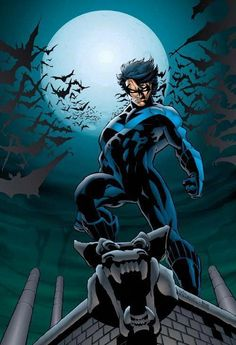 Dennis O'Neil introduces Dick Grayson's brand new costume and career in Nightwing's first solo series! Nightwing flies solo as Dick Grayson uncovers new facts about the murder of his parents--evidence suggesting there was far more to their death Hq Marvel, Marvel Comics, Comic Book Characters, Comic Books, Rogue Comics, Nightwing And Starfire, Nightwing Cosplay, Richard Grayson, Richard Richard