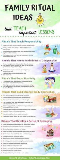 Family rituals teach lessons ideas big great kids and parents life journal Parenting Advice, Kids And Parenting, Parenting Classes, Parenting Styles, Parenting Quotes, Foster Parenting, Natural Parenting, Gentle Parenting, Parenting Websites