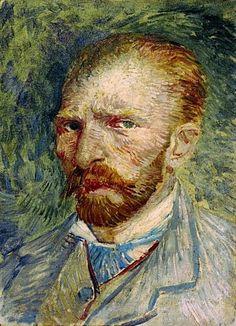 Zelfportret - one of 269 works by Vincent van Gogh (1853 - 1890) at the Kröller Müller Museum, Otterlo, the Netherlands