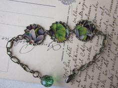 Paper Bracelet Purple Easter Pansies #HAF #HAFshop #Handmade #artist
