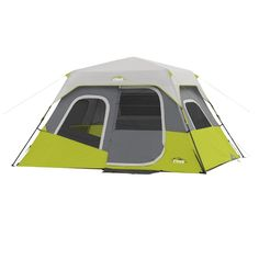 Buy CORE 6 Person Instant Cabin Tent with Wall Organizer securely online today at a great price. CORE 6 Person Instant Cabin Tent with Wall Organizer available today at CampingG. Pop Up Camping Tent, Best Tents For Camping, Pop Up Tent, Family Camping, Camping Gear, Outdoor Camping, Camping Equipment, Camping Cabins, Camping Blanket