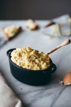 sriracha egg salad with homemade mayo