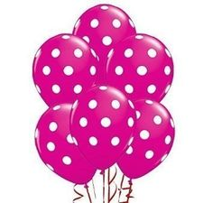 Qualatex Big Polka Dots White/Wild Berry Biodegradable Latex Balloons, 11 Inch (12 Units). #Qualatex #Polka #Dots #White/Wild #Berry #Biodegradable #Latex #Balloons, #Inch #Units)