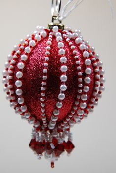 191. Beaded Ornament Cover by BeadingWolves on Etsy https://www.etsy.com/listing/252841330/191-beaded-ornament-cover