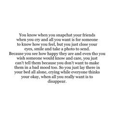 #anxiety #depression #cry #friends #quotes