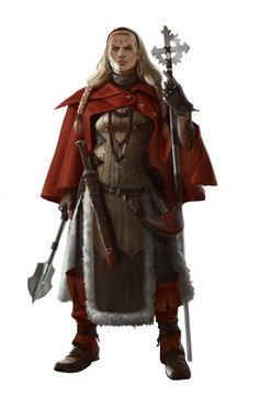 Female Cleric - Pathfinder PFRPG DND D&D d20 fantasy