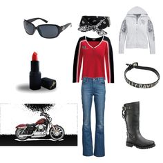"""""""Now all I need is the man for the Harley"""" by ljdiskey on Polyvore"""