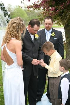 Second wedding with children