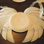 Paper plate angel wings. Genius!